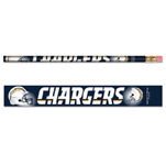 Wincraft San Diego Chargers 6 Pack Pencils