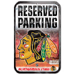 Wincraft Chicago Blackhawks Plastic Reserved Parking Sign