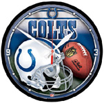 Wincraft Indianapolis Colts Round Wall Clock