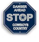 Fremont Die Dallas Cowboys Plastic Stop Sign