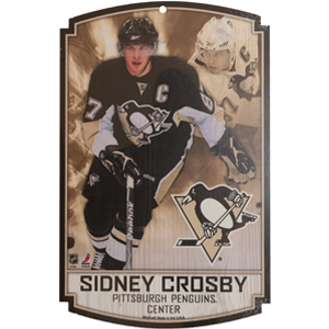Wincraft Pittsburgh Penguins Sidney Crosby Wood Sign