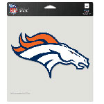 Wincraft Denver Broncos 8''x8'' Color Die Cut Decal