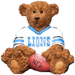 Elby Gifts Detroit Lions Power Play Teddy Bear Figurine