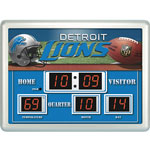 Team Sports America Detroit Lions Scoreboard Wall Clock