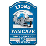 Wincraft Detroit Lions Fan Cave Wood Sign