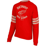 CCM Detroit Red Wings Ice Pro Appliqué Long Sleeve Crew T-Shirt