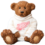 Elby Gifts Detroit Red Wings Power Play Teddy Bear Figurine