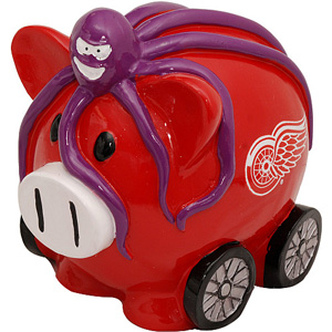 Detroit Red Wings Large Resin Thematic Piggy Bank by Forever Collectibles