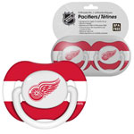 First Time Fan Detroit Red Wings 2-Pack Baby Pacifier Set