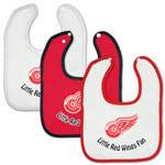 McArthur Sports Detroit Red Wings Three Pack Snap Baby Bib Set