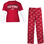Reebok Detroit Red Wings Toddler Long Sleeve Layered T-Shirt & Pant Sleepwear Set