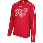 Reebok Detroit Red Wings Long Sleeve Faceoff Team Jersey T-Shirt