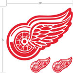 Trademarx Detroit Red Wings Peel-N-Stick Wall Decals