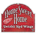 Wincraft Detroit Red Wings Home Sweet Home Wood Sign