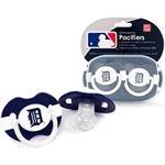 Baby Fanatic Detroit Tigers 2-Pack Pacifier Set