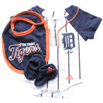 Adidas Detroit Tigers Newborn Creeper, Bib & Bootie Set