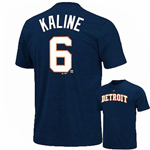 Majestic Detroit Tigers #6 Al Kaline Cooperstown Player Name & Number T-Shirt