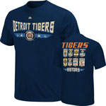 Majestic Detroit Tigers Cooperstown Collection Baseball Tickets T-Shirt