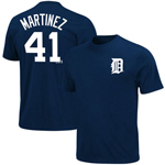 Majestic Detroit Tigers #41 Victor Martinez Player Name & Number T-Shirt