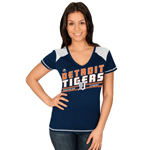Majestic Detroit Tigers Women's Superior Speed V-Neck T-Shirt