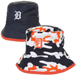 New Era Detroit Tigers Infant Camo Switch Up Reversible Bucket Hat