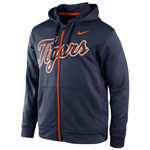 Nike Detroit Tigers KO Wordmark Full-Zip Performance Hoodie
