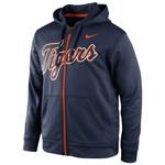 Nike Detroit Tigers KO Wordmark Full-Zip Performance Hoodie