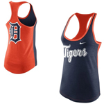 Nike Detroit Tigers Women's Tri-Blend Loose Fit Racerback Tank Top
