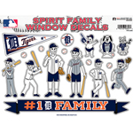 Rico Industries Detroit Tigers Spirit Family Window Decals