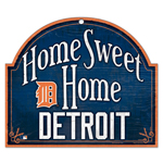 Wincraft Detroit Tigers Home Sweet Home Wood Sign