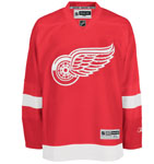Reebok Detroit Red Wings Premier Replica Home NHL Hockey Jersey