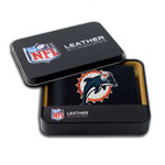 Miami Dolphins Embroidered Billfold Leather Wallet by Rico