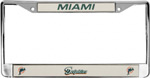Rico Industries Miami Dolphins Metal License Plate Frame