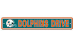 Fremont Die Miami Dolphins Plastic Street Sign