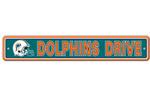 Fremont Die Miami Dolphins Plastic Street Sign