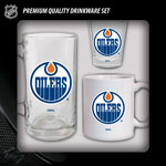 Hunter Manufacturing Edmonton Oilers Drinkware Fan Pack - Set of 3