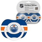 First Time Fan Edmonton Oilers 2-Pack Baby Pacifier Set