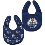 Edmonton Oilers 2-Piece Baby Bib Set by Mighty Mac