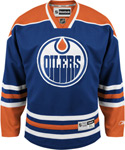 Reebok Edmonton Oilers Big & Tall Premier Replica Home NHL Hockey Jersey