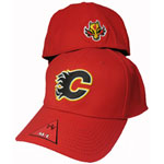 American Needle Calgary Flames Lofted Stretch Fit Cap
