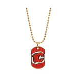 JF Sports Calgary Flames Dog Tag Necklace