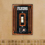 The Memory Company Philadelphia Flyers Single Art Glass Light Switch Plate Cover