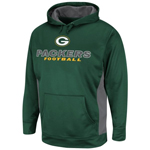 VF Imagewear Green Bay Packers Gridiron V Pullover Performance Hooded Sweatshirt
