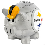 Pittsburgh Steelers Large Resin Thematic Piggy Bank by Forever Collectibles