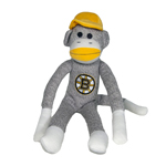 Boston Bruins 20'' Plush Sock Monkey by Forever Collectibles