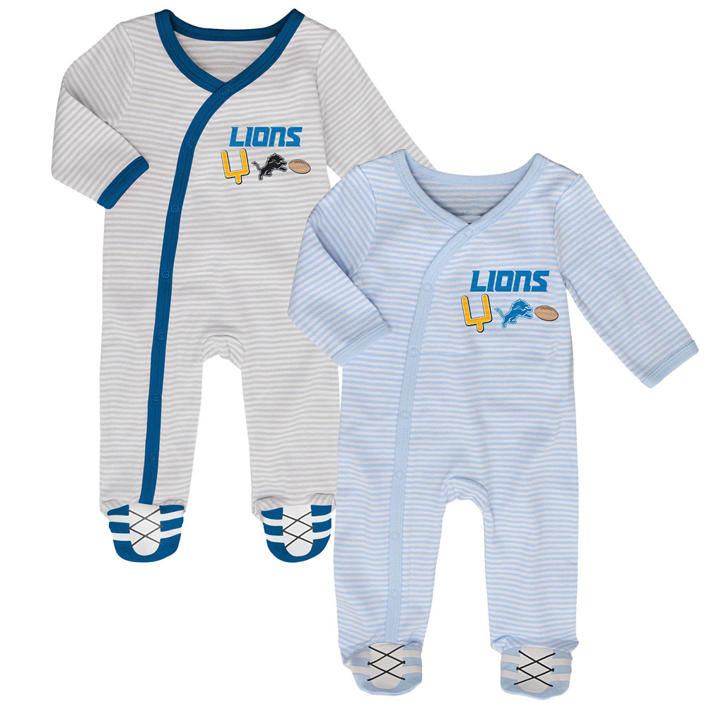 737f56d0 Detroit Lions Newborn Football's Best 2-Piece Long Sleeve Coverall Set by  Outerstuff