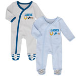 Detroit Lions Newborn Football's Best 2-Piece Long Sleeve Coverall Set by Outerstuff