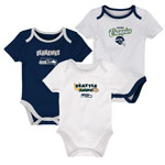 Seattle Seahawks Newborn 3rd Down 3-Piece Creeper Set by Outerstuff