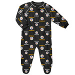 Pittsburgh Steelers Newborn All Over Print Raglan Sleeper by Outerstuff