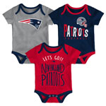 New England Patriots Newborn Little Tailgater 3-Piece Creeper Set by Outerstuff